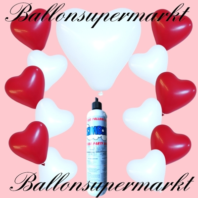 Luftballons mit der kleinen Einweg-Heliumflasche zu Hochzeitsfeiern, Luftballons steigen lassen und Hochzeitsfeiern mit schwebenden Hochzeitsballonen dekorieren