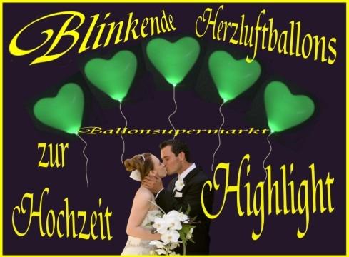 Leuchtende Herzluftballons zur Hochzeit steigen lassen