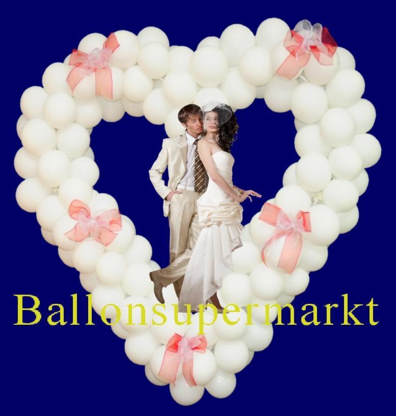 Ballons zur Hochzeit dekorieren mit dem Luftballonshop Ballonsupermarkt